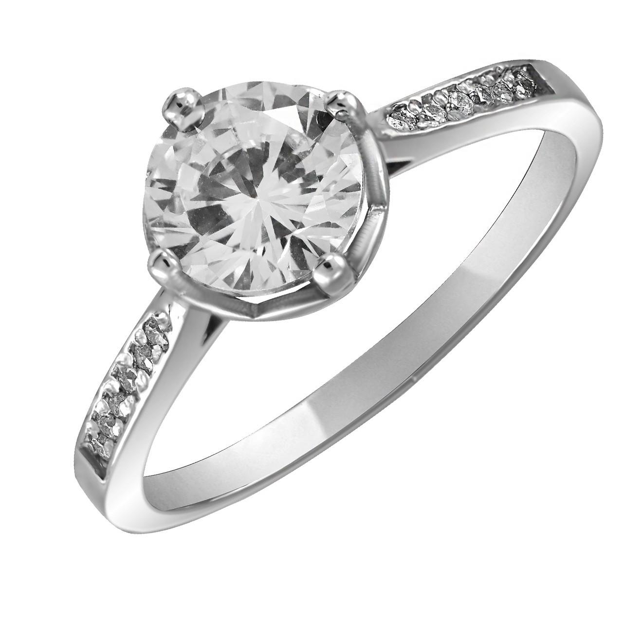 Кольцо из серебра с цирконием Twiddle Jewelry 21.0 (К016-21.0)