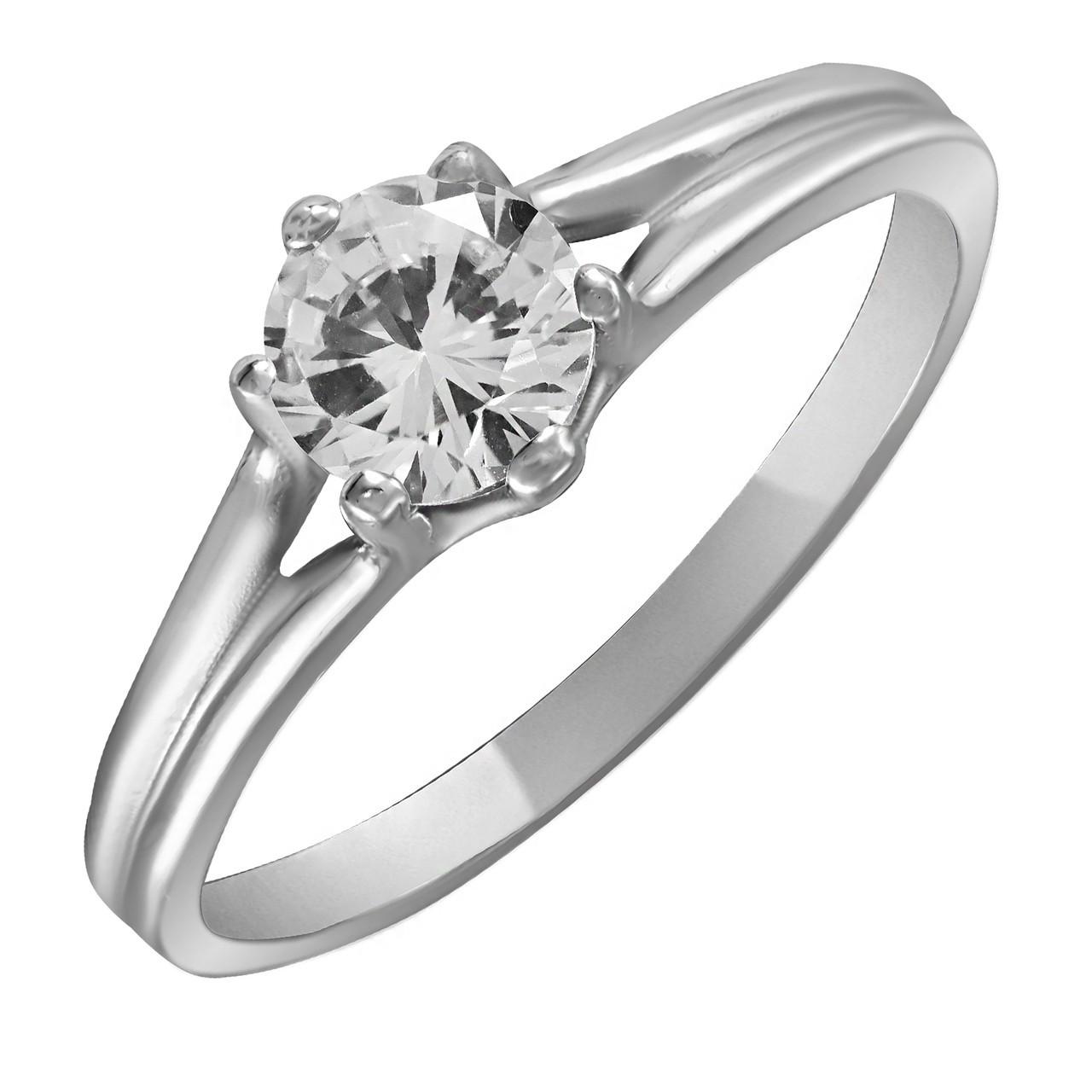 Кольцо из серебра с цирконием Twiddle Jewelry 18.0 (К017-18.0)