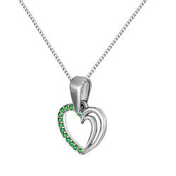Кулон из серебра с куб. циркониями Twiddle Jewelry Зеленый (П113з)