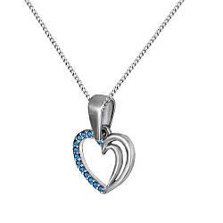 Кулон из серебра с куб. циркониями Twiddle Jewelry Синий (П113с)
