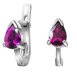 Детские серьги из серебра с кубическим цирконием Twiddle Jewelry Фиолетовый (С001ф)