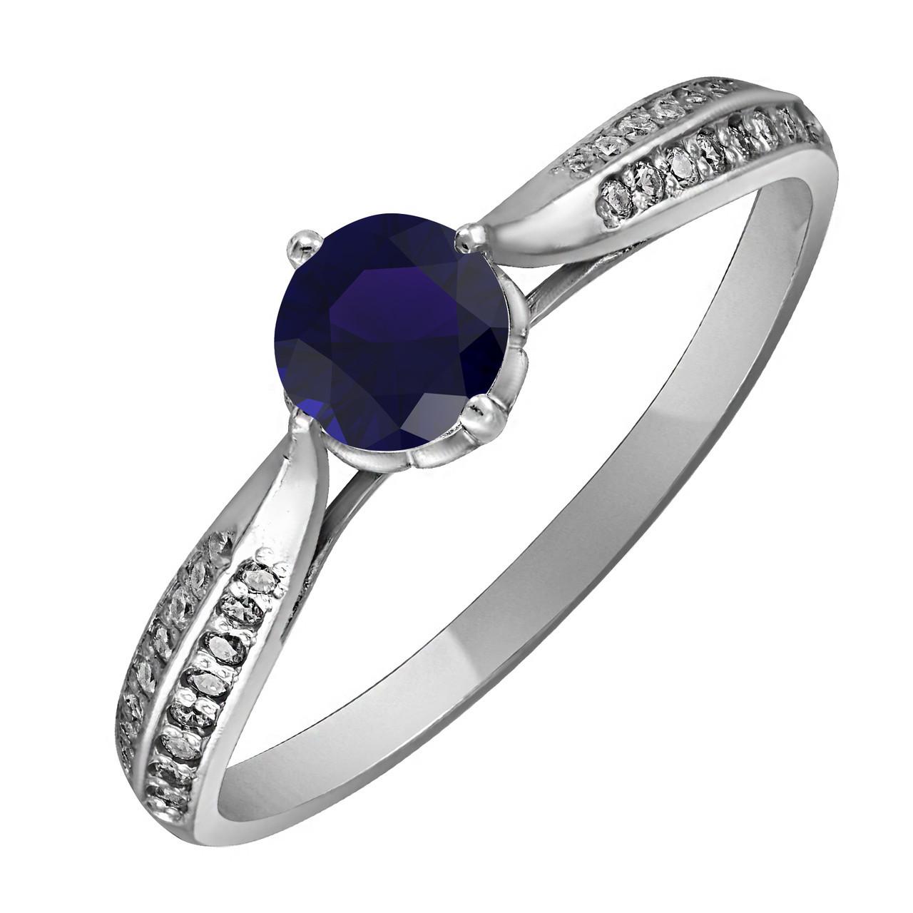 Кольцо из серебра с синим цирконием Twiddle Jewelry 17.0 (К007с-17.0)