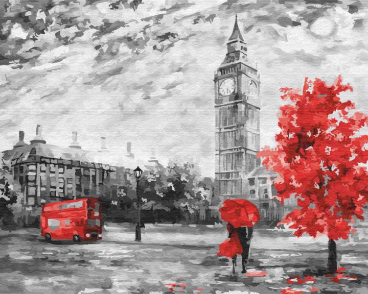 Осень в Лондоне (GX22029). Картины по номерам 40×50 см.