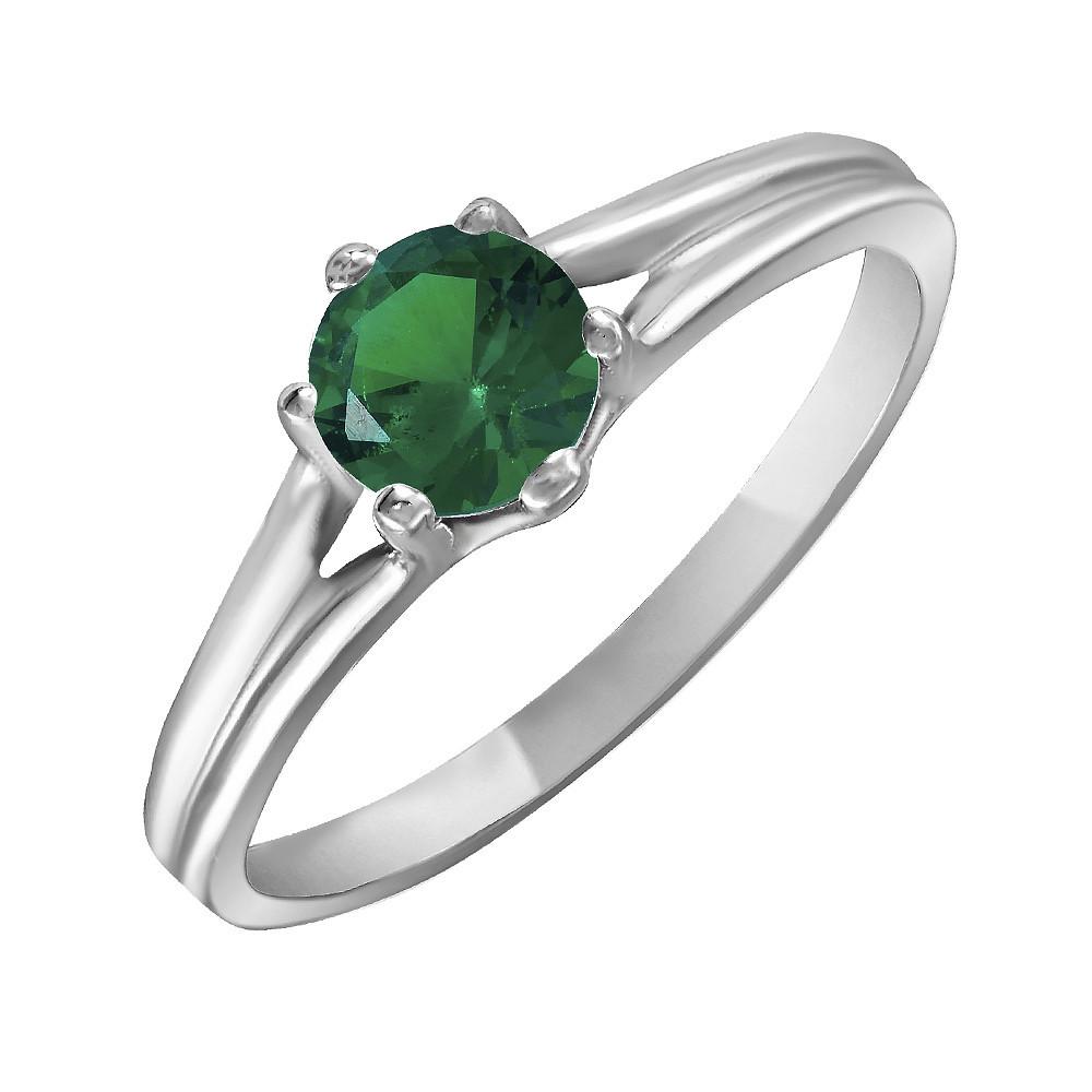Кольцо из серебра с кубическим цирконием 18.5 размер Twiddle Jewelry (К017з-18.5)