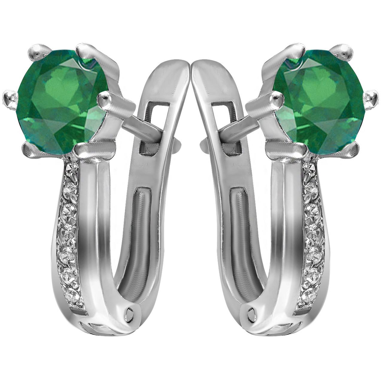 Серьги из серебра с кубическим цирконием Twiddle Jewelry (С029з)