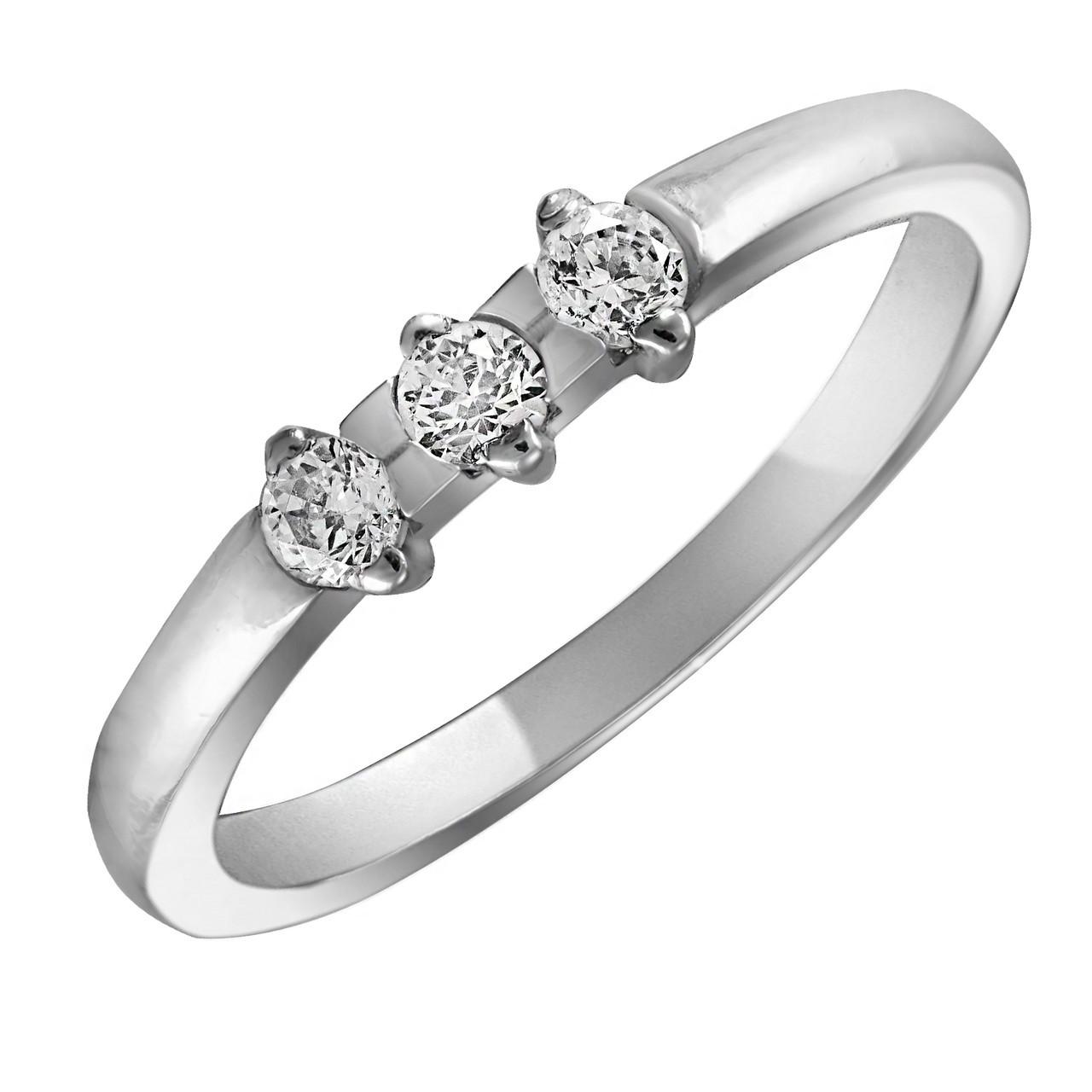 Кольцо из серебра с кубическим цирконием Twiddle Jewelry 18.0 размер (К002-18.0)