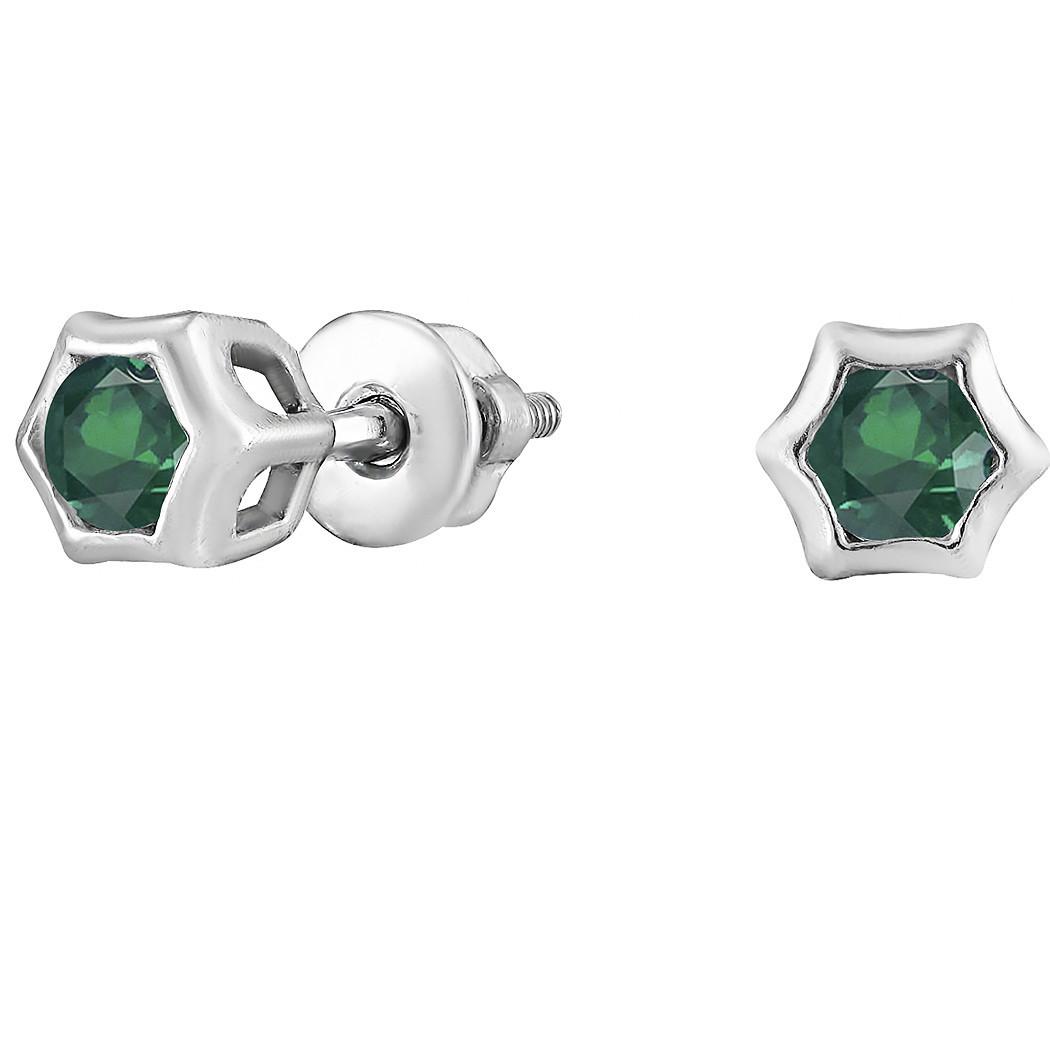 Серьги из серебра с кубическим цирконием Twiddle Jewelry (С016з)