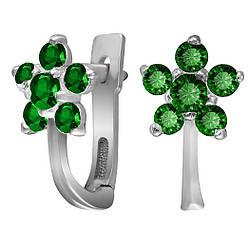 Серьги из серебра с кубическим цирконием Twiddle Jewelry (С019з)