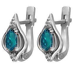 Серьги из серебра с кубическим цирконием Twiddle Jewelry (С020г)