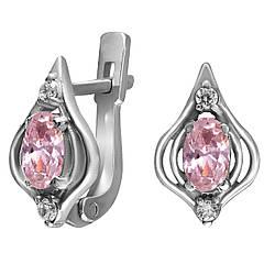 Серьги из серебра с кубическим цирконием Twiddle Jewelry (С020р)