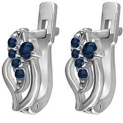 Серьги из серебра с кубическим цирконием Twiddle Jewelry (С026с)