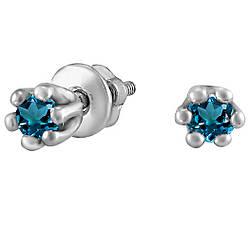 Серьги из серебра с кубическим цирконием Twiddle Jewelry (С041с)