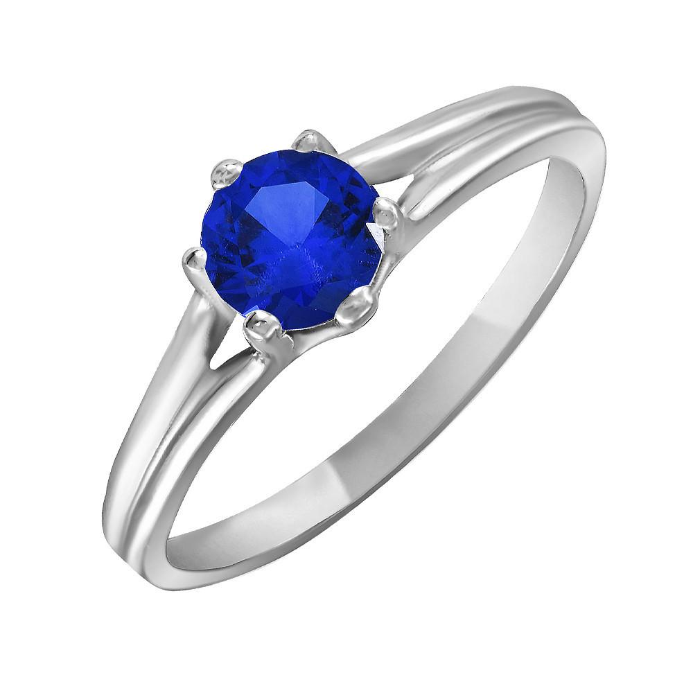 Кольцо из серебра с синим кубическим цирконием Twiddle Jewelry 15.5 размер (К017с-15.5)