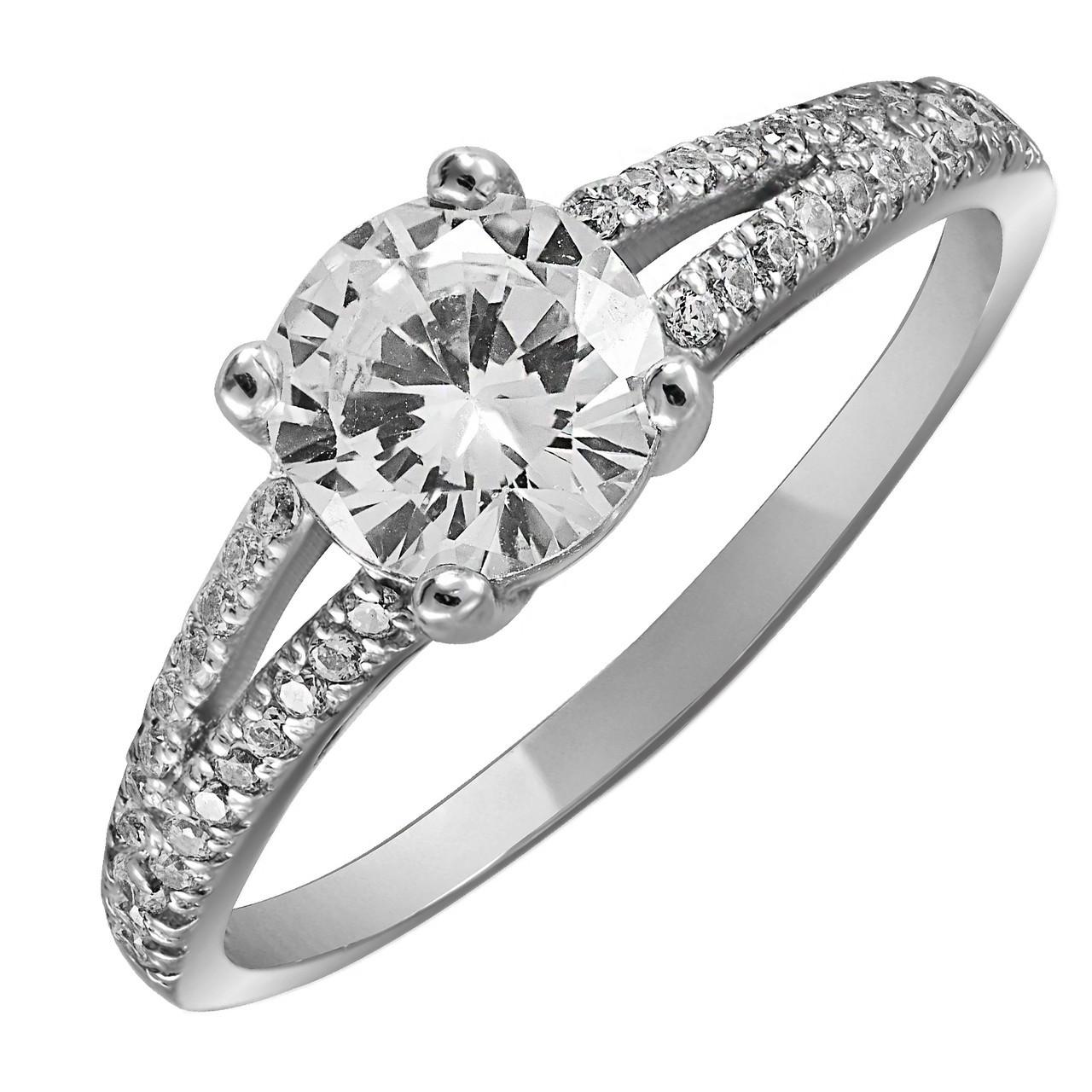 Кольцо из серебра с кубическим цирконием Twiddle Jewelry 20.5 размер (К020-20.5)