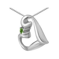 Кулон из серебра с кубическим цирконием Twiddle Jewelry (П123з)