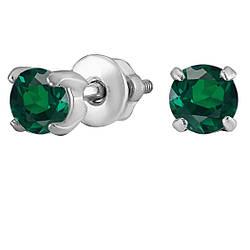 Серьги из серебра с кубическим цирконием Twiddle Jewelry (С017з)