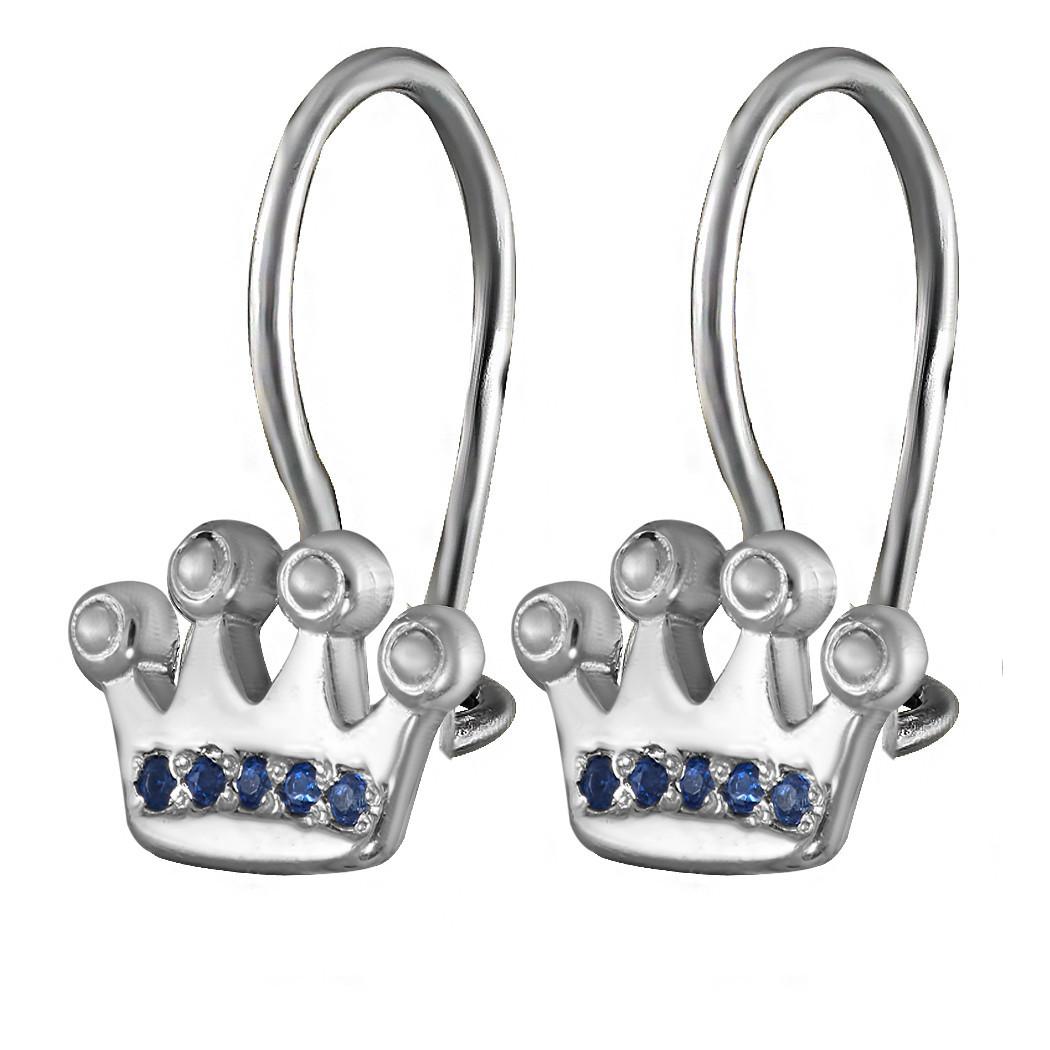 Детские серьги Twiddle jewelry с кубическим цирконием (С053с)