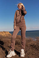 Спортивный женский костюм утепленный на флисе (разные цвета )