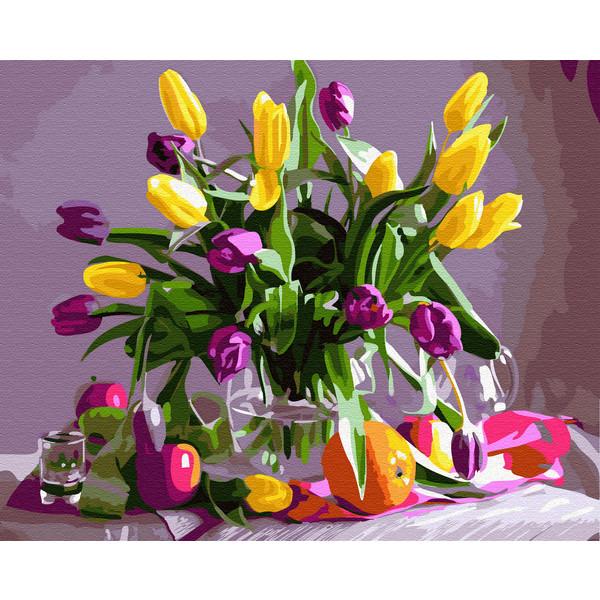 Мартовские тюльпаны (GX32513). Картины по номерам 40×50 см.