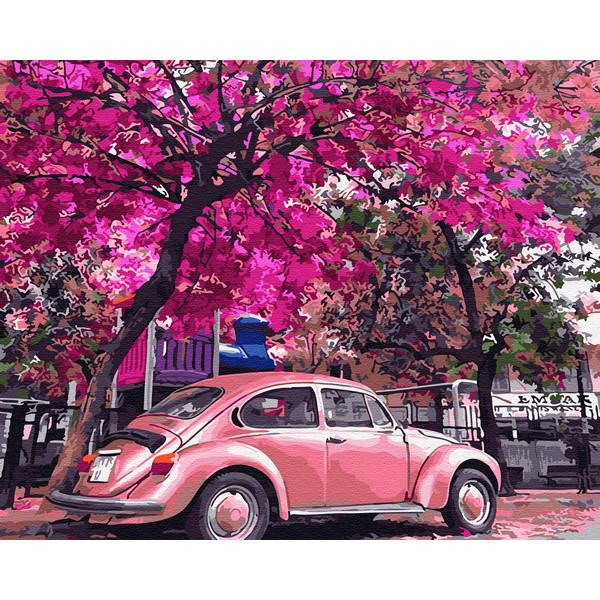 Цветущая парковка (GX32366). Картины по номерам 40×50 см.