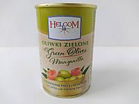 Оливки зеленые фаршированные пастой из лосося Helcom 280 г, фото 1