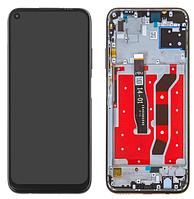 Дисплей Huawei P40 Lite модуль в сборе с тачскрином, черный, с рамкой, High Copy