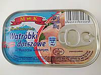 Печень трески в собственном соку M & K 115 г