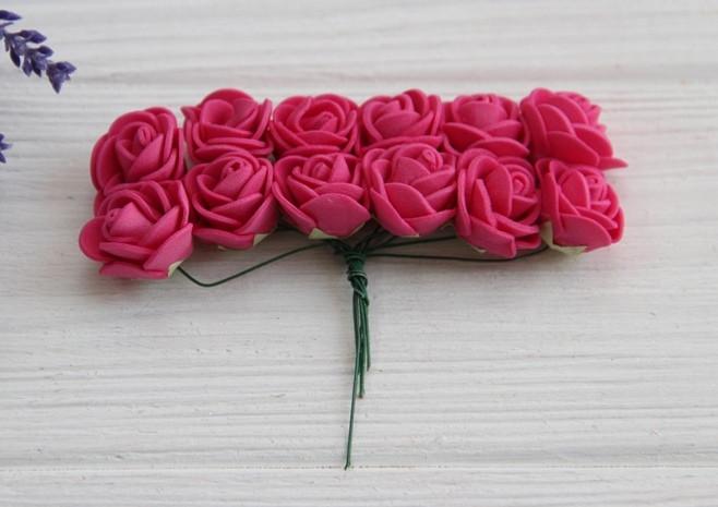 Розы 2,0 см , малиновые       144 шт