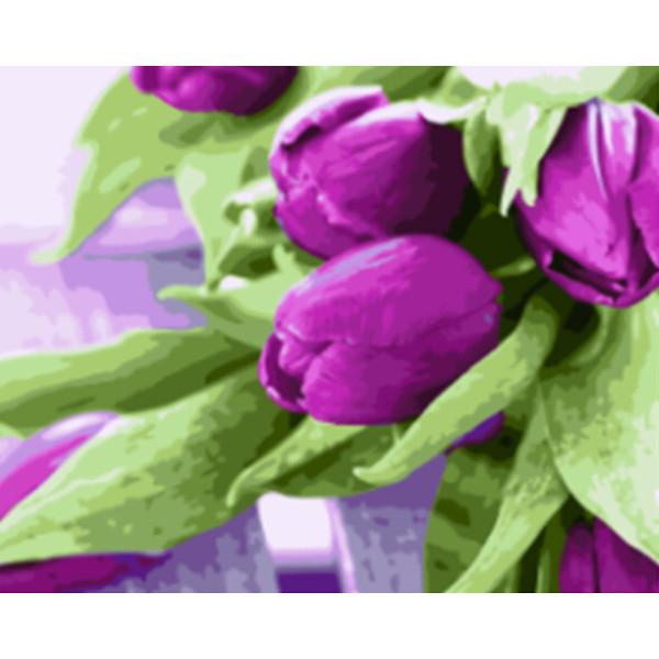 Тюльпаны на столе (GX21540). Картины по номерам 40×50 см.