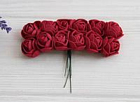 Розы 2,0 см , бордо       144 шт, фото 1