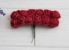 Розы 2,0 см , бордо       144 шт