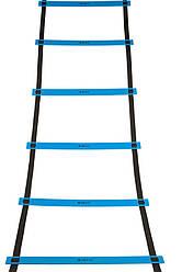 Беговая тренировочная лестница 12 ступеней 6 м цвет: синий SECO