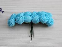 Розы 2,0 см , голубые       144 шт, фото 1