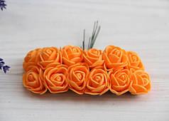 Розы 2,0 см , оранжевые        144 шт