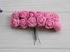 Розы 2,0 см ,розовые       144 шт