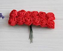 Розы 2,0 см , красные          144 шт