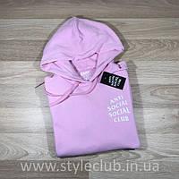 Толстовка розовая Anti Social Social Club Pink | Худи ASSC | Кенгуру АССЦ