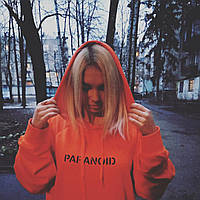 Толстовка оранжевая Paranoid Anti Social Social Club | Худи ASSC | Кенгуру АССЦ