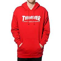 Толстовка красная Thrasher   худи Трешер   кенгуру трашер