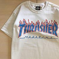 Футболка Thrasher женская белая. Оригинальная бирка