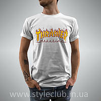 Thrasher Flame Футболка | Бирки Живые Фотки | Мужской Топ Шоп