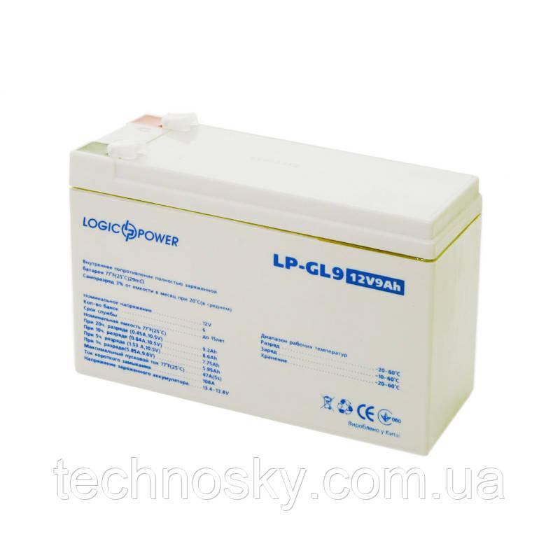 Гелевая аккумуляторная батарея LogicPower LP-GL 12-9AH