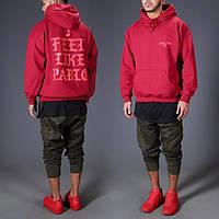 Толстовка красная I Feel Like Pablo | Yeezy | худи пабло | кенгурушка лайк пабло, фото 1