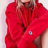 Червона жіноча толстовка Champion | худі чемпіон | кенгурушка
