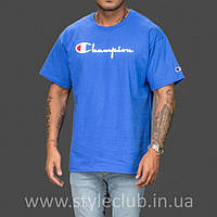 Champion Футболка мужская • Бирка оригинальная • Синяя, фото 1