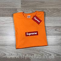Футболка Supreme оранж | Бирка оригинальная , фото 1