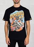 Футболка чёрная Palm Angels 45 Car Crash • Палм Анджелс футболка