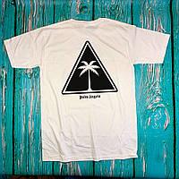 Футболка белая Palm Angels tringle • Палм Анджелс футболка