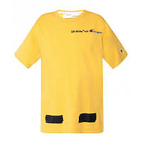 Футболка Off White Champion Arrows T-Shirt (Yellow)  мужская,женская,детская