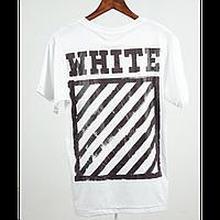 Футболка Off White Framed Stripe T-Shirt (White) мужская,женская,детская